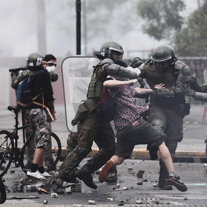 CIDH condena uso de la fuerza en Chile
