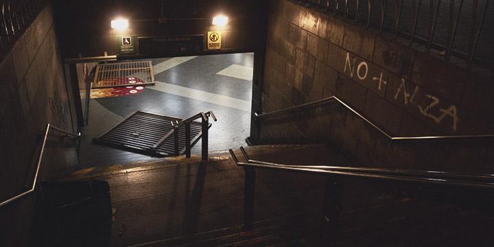 Primer detenido por destrozos en el metro