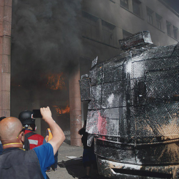Incendio en la gobernación de Concepción
