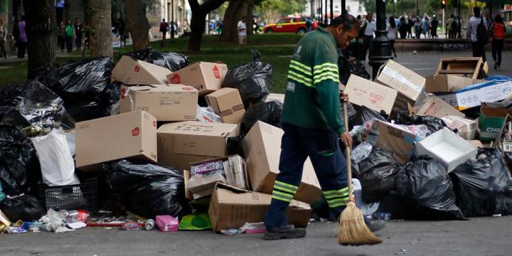 Paro indefinido recolectores de basura
