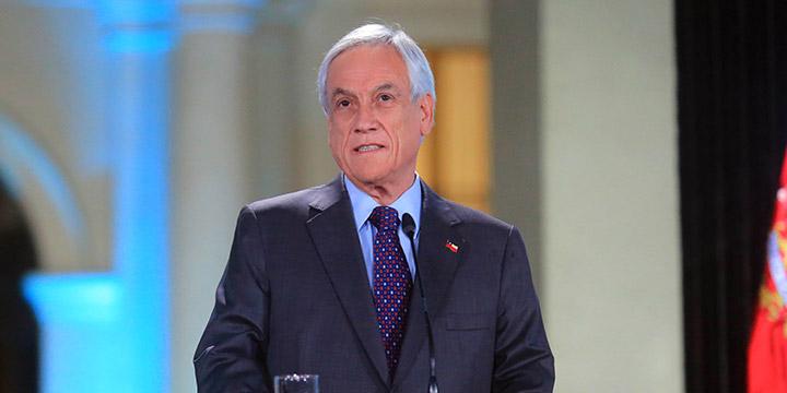 Piñera valora acuerdo de nueva constitución y condena -abusos y delitos- contra manifestantes